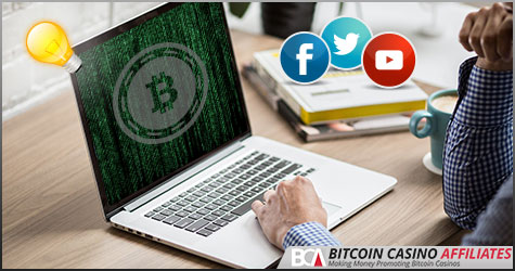 Bitcoin Casino Webmesterek