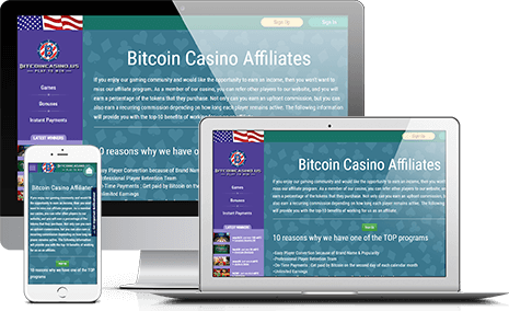 Partecipa BitcoinCasino.us Affiliate Program