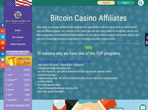 Program de afiliere BitcoinCasino.us