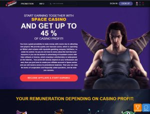 Affiliate program za Space Casino