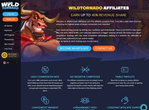 Affiliate program WildTornado