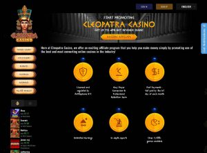 Programme d'affiliation Cleopatra Casino