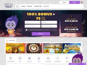 Affiliate program CryptoWild Casino