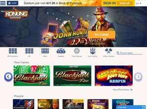 Affiliate program za Konung Casino