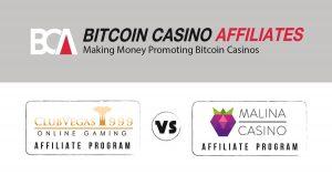 ClubVegas vs Malina Casino Affiliates