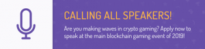 Crypto Games Conference calling speakers