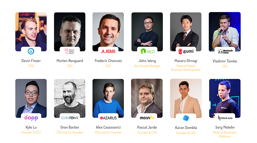 Crypto Games Conference 2019 speakers