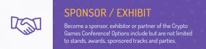 Crypto Games Conference sponsor/exhibit