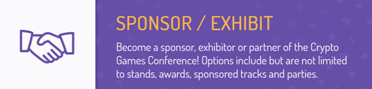 Crypto Games Conference sponsor/exhibit