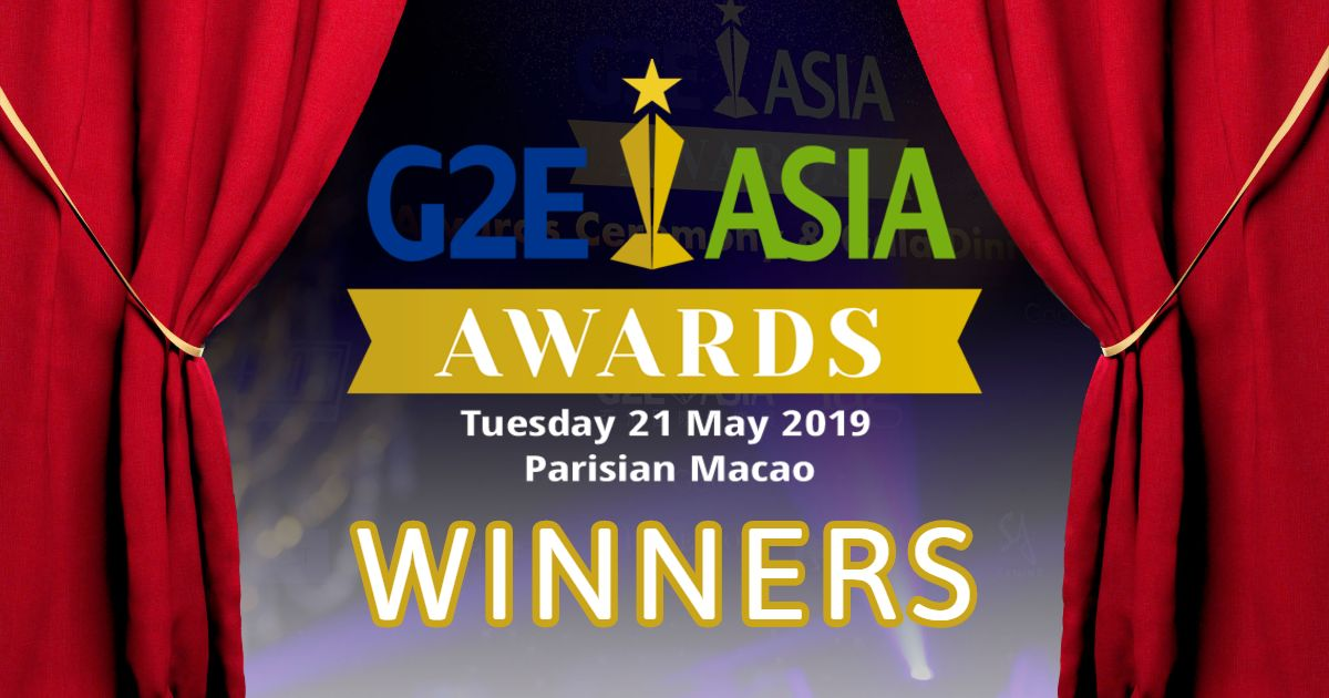 G2E Asia Awards 2019 Winners